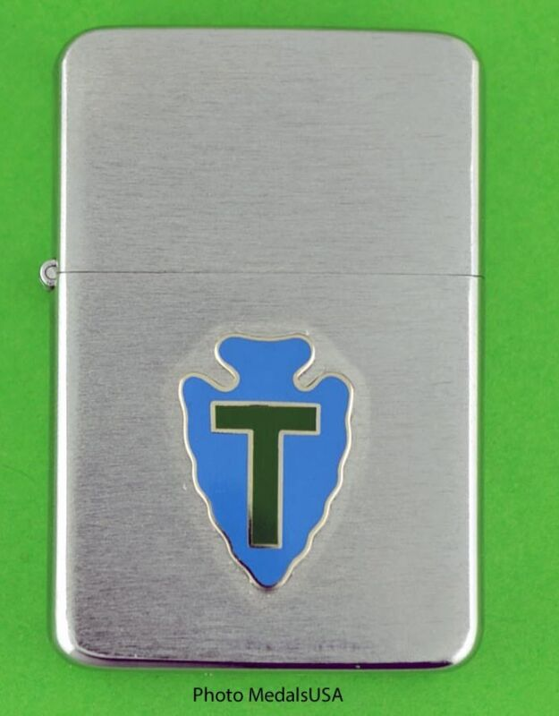 36TH INFANTRY DIVISION WIND PROOF PREMIUM LIGHTER IN GIFT BOX  TEXAS ARMY SBC068