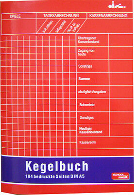 Kegelbuch A5 104 farbige Innenseiten Kegeln Kegel Buch Chronik