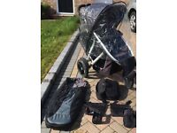 Phil&Teds Vibe double pushchair plus accessories