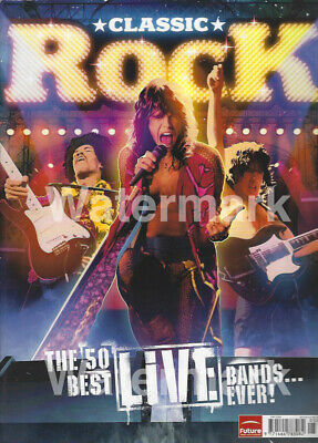 CLASSIC ROCK MAGAZINE 2008 50 Best Live Bands Nirvana Guns N Roses The Who