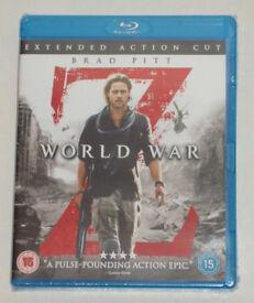 DVD FILM MOVIE BLURAY WORLD WAR Z BLU-RAY 2013 EXTENDED ACTION CUT* BRAD PITT.⭐️