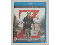 DVD FILM MOVIE BLURAY WORLD WAR Z BLU-RAY 2013 EXTENDED ACTION CUT* BRAD PITT.⭐️