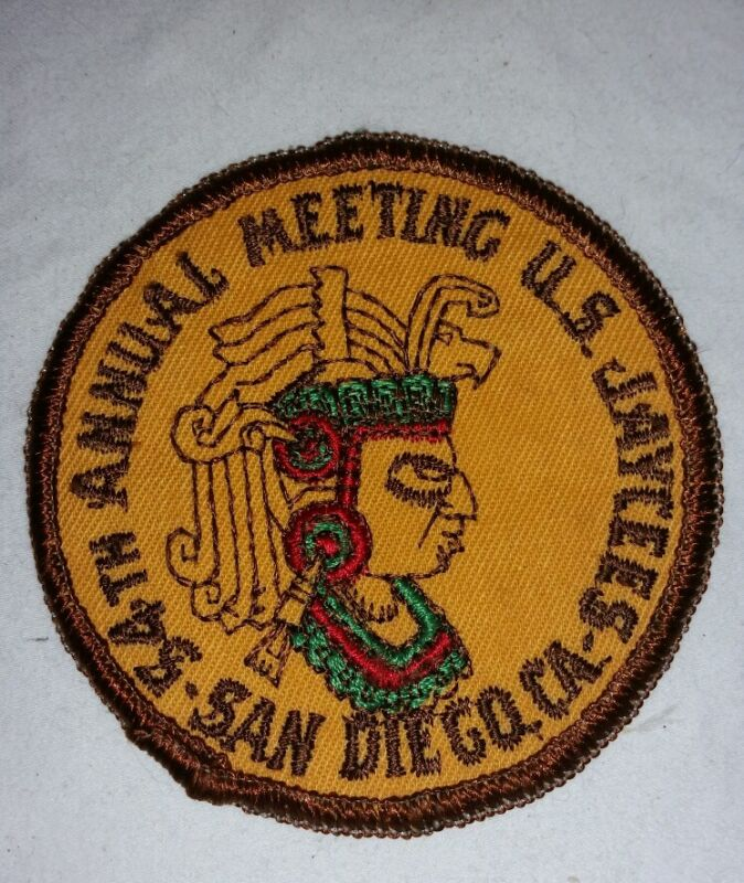 JAYCEES PATCH 54TH ANNUAL MEETING SAN DIEGO CALIFORNIA COLLECTIBLE VINTAGE