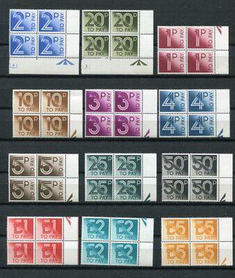 GB 1982 POSTAGE DUE MNH Set BLOCKS x4 48 Stamps