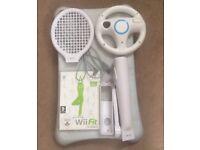 Nintendo Wii Fit Balance Board + accessories