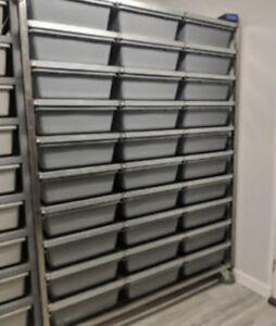 30 binned freedom breeder snake rack.