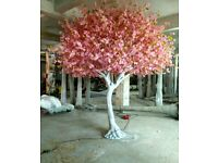 Artificial cherry trees for hire. Table top size 1.5m and floorstanding 10ft white and pink