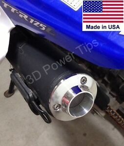 YAMAHA TT-R50 TT-R110 TT-R125 TTR EXHAUST 2D POWER TIP w/ SPARK ARRESTOR SCREEN