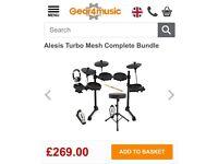 Alesis turbo mesh complete bundle electric drum kit