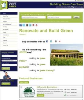 Online business for Sale - Renovate and Build Green Directory