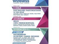 2 X Wireless Saturday Tickets 7th July