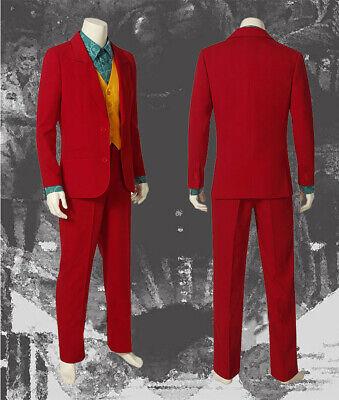 Red Phoenix Costume (Joaquin Phoenix Joker Costume Cosplay Prop Arthur Fleck Outfits Prop Jacket)