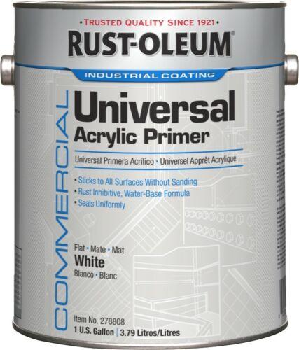 Rust-Oleum Commercial 278808 Universal Acrylic Primer- Satin White, 1-Gallon