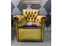 Stunning Chesterfield Unique Mustard Tan Chair - UK Delivery