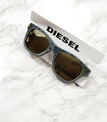 Diesel Sunglasses Acetate Blue Denim Camo Rim Made in Italy New for sale  Shipping to India