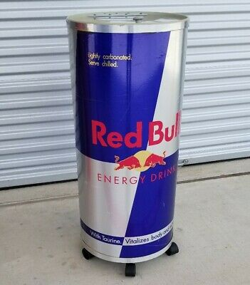 Red Bull Can Standing Cooler Fridge Non Electric Local Pickup