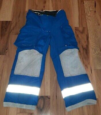 Firefighter Janesville Lion Apparel Turnout Bunker Pant 30x26 Blue Teal Costume