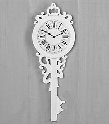 Old-Fashioned Wooden Key Shaped WALL CLOCK