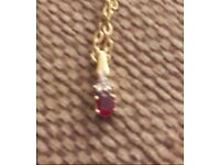 GENUINE RUBY & DIAMOND NECKLACE