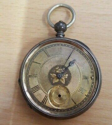 Old Antique Vintage Pocket Watch Double Dor K 18 Marrey Geneve *NOT WORKING*