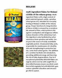 TROPICAL 250ML/50G / MALAWI / TANGANYIKA / BIONAUTIC /