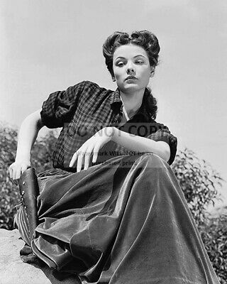 Gene Tierney As Belle Shirley With Gun In Belle Starr 8x10 Photo 20x25cm