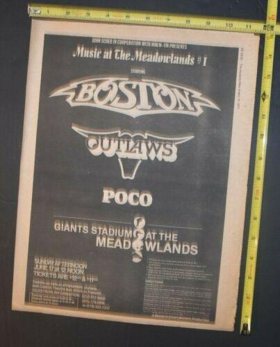 Boston 1979 Concewrt Ad Giants Stadium Meadowlands NJ Outlaws Poco