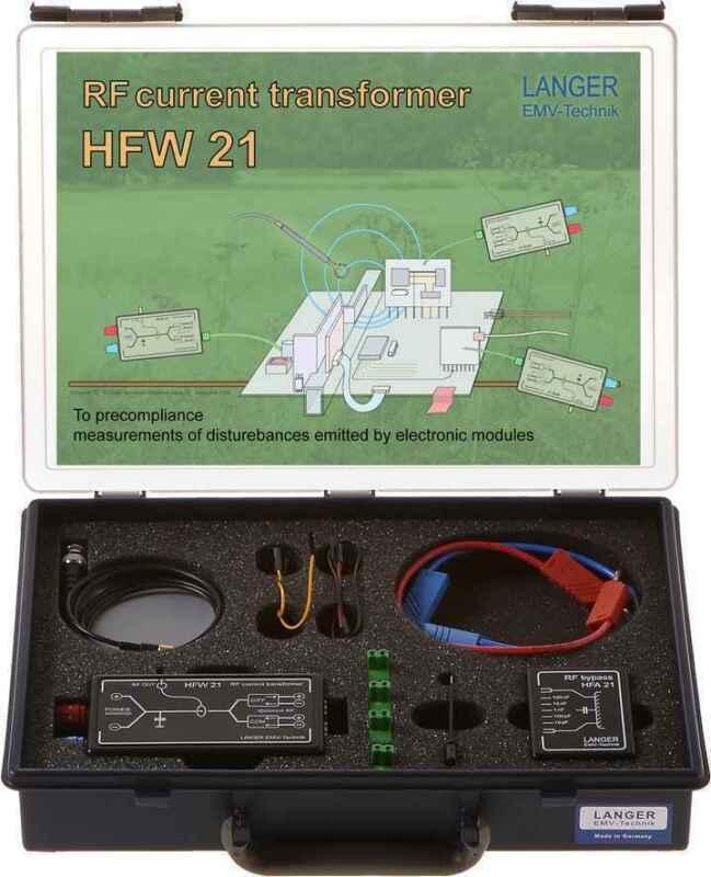 Langer EMV HFW 21 Set RF Current Transformer 100 kHz - 1 GHz EMC Probes & Tools