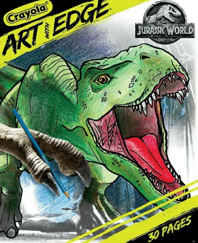 "New Crayola Art With Edge Jurassic World 30 (8""×10"") Coloring Pages Dinosaurs"