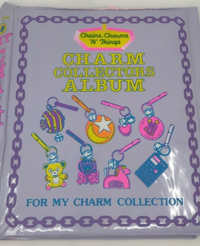 VTG Plastic Bell Charms Collectors Album Imperial Binder Book 1985 **Issues-Read