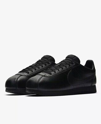 Nike Classic Cortez Black Leather Trainers 749571 002 Mens Size UK 7 EUR 41