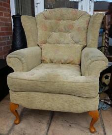 Queen Ann Fireside Chair