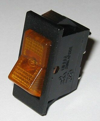 Swann Industries Illuminated Rocker Switch - Spst - 125v 15a - Lighted Amber