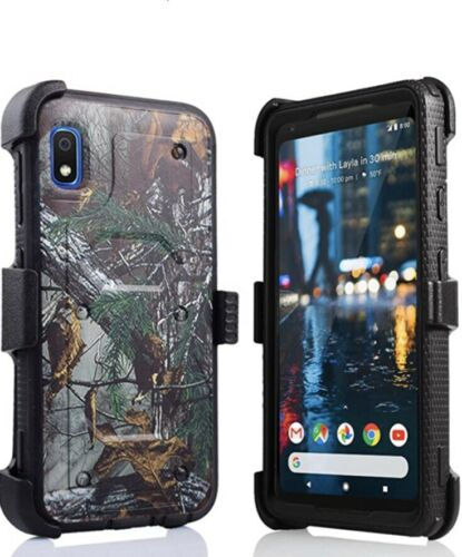 Samsung Galaxy A10e Camouflage Case Shockproof Hybrid Belt Clip Phone Cover - $10.00