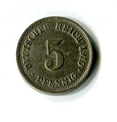 5 Pfennig Kaiserreich 1910 G M_647