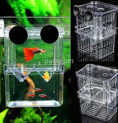 Aquarium Fish Tank Breeding Breeder Baby Newborn Fry Trap Box New US