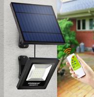 PORTA all/'aperto il cancelletto LED accendere la luce ad energia solare Struttura in acciaio inox