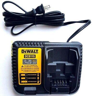 Dewalt DCB115 12V-20V MAX Lithium Battery Charger,For Drill,Saw,Grinder 20 volt