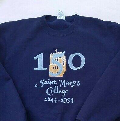 Vtg 90s Champion XL Saint Mary's College Sweatshirt Embroidered 150 Year Rare