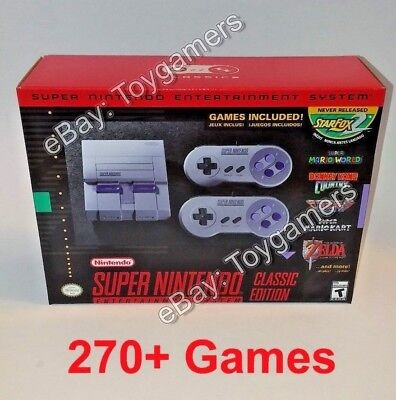 Super Nintendo Classic Edition Console Snes Mini   270  Games   100  Authentic