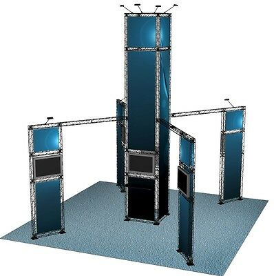 20x20 Trade Show Booth Display Tower Truss Exhibit Stand Portable Crosswire X10