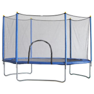 Brand-New-10-FT-Round-Trampoline-with-Safety-Net-and-Step-Ladder-Zipped-Door