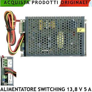 Alimentatore-Caricabatterie-Stabilizzato-Antifurto-Switching-13-8-V-5-A-Allarme