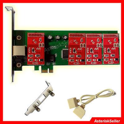 Asterisk Card TDM400,4 FXO Card Issabel Freepbx asterisknow Dahdi PCI-E tdm400p