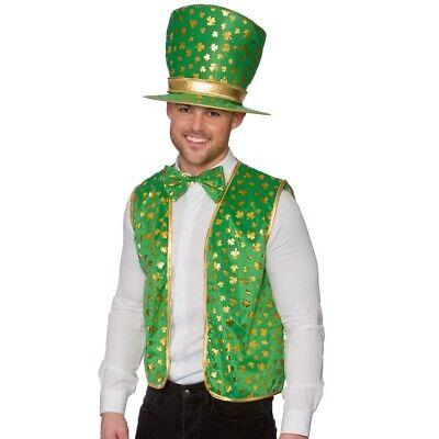 Herren st Patricks Tag Kostüm Weste, Hut & Bowtie Satz Patricks - St Patrick Tag Kostüm