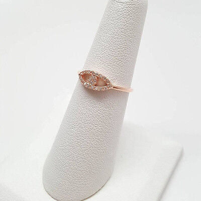 Evil Eye Rose Gold Plated .925 Sterling Silver Ring Size 3-9 NEW - Eye Rings
