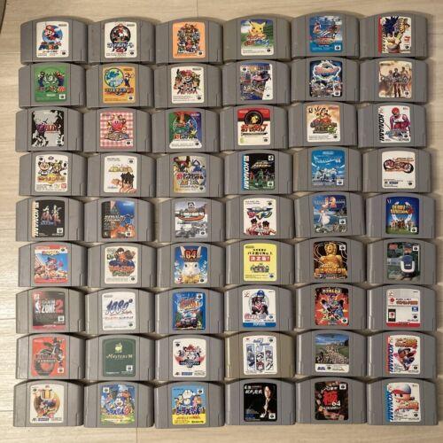 Lot of 54 Japanese N64 games NTSC-J Nintendo Mario/Pokemon/Kirby/Smash/Zelda