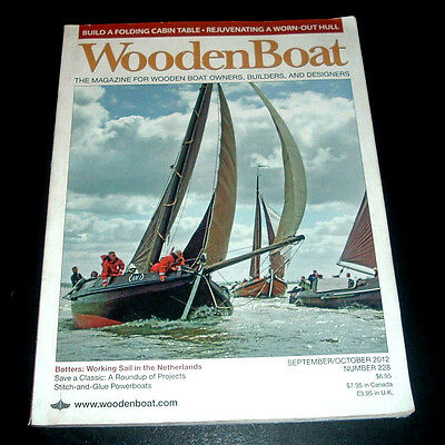 WOODEN BOAT MAGAZINE SEPT/OCT 2012 ~ BUILD A FOLDING CABIN TABLE ~ SHARPIES +++