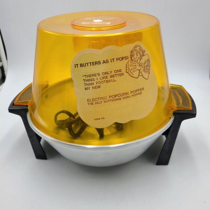 Vintage Hamilton Beach Butter-Up Corn Popper 4 Quart Model 499 Bowl Lid New Box