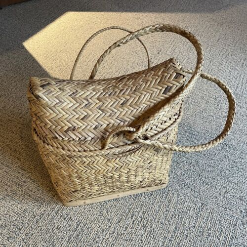 Vintage Ifugao Handwoven Wicker Basket Backpack  • GIFT
